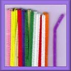 "Lot of 48 Chenille Craft Stems 12"" Pipe Cleaners School Project Choose Color"