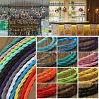 1M Coloured Two Core Twisted Vintage Silk Braided Fabric Cable for Lighting New