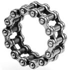 13MM Size 7-15 Stainless Steel Biker Ring Chain Linked Retro Vintage Sports Punk
