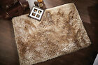 SMALL - LARGE SOFT CHUNKY THICK LONG SHAGGY LIGHT GOLDEN BEIGE PEARL RUG