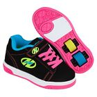 Heelys X2 Dual Up Black Multi Neon Roller /Skating Shoes+Free How to DVD