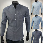 Mens New Fashion Luxury Long Sleeve Business Casual Dress Shirts Formal Top W858