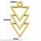 24K Gold Plated Sterling silver Inverted Triangles Charm Pendant PK1 PK5