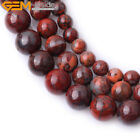 """Round Flower Red Agate Jewelry Making Gemstone Beads Strand 15"""" Size Select"""