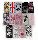 IPHONE 5 JEWELLED CRYSTAL RHINESTONE CASE COVER MANY DESIGNS DIAMONDS HARD BACK