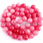 "8mm Smooth Round Shape Candy Jade Gemstone For DIY Jewelry Making Beads 15""/Lot"