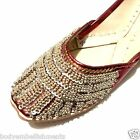Jaipur India Khussa Party Beaded Shoes Flats Size 5, 6, 8 Liquidation Sale