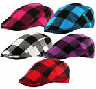 YOUTH - KIDS - Lumberjack Check Baker Boy Newsboy Country Cabbie Flat Cap Hat
