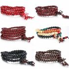 Women Men Tibetan Buddhist Wrap Wooden Bracelet/Necklace Worry Beads Jewelry