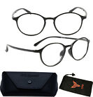 Men Women Plastic Unbreakable Lightweight Flex TR90 Reading Glasses Reader Black