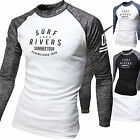 Mens Beach Water Sports Rash Guard Wetsuits Long Sleeve Summer Swimwear Top W527
