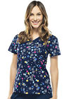 Scrubs Cherokee Runway Print Top Flor-ever And A Daisy 3665 FEDY FREE SHIPPING