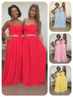 CHIFFON BRIDESMAID DRESS PASTEL EVENING MAXI BALL WEDDING GOWN PROM BELLA