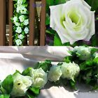 8ft Artificial Fake Silk Rose Flower Ivy Vine Garland Wedding Party Home Decor H