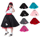 Hip Hop 50s Shop Plus Size Womens Poodle Skirt Homemade Halloween Dance Costume