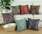 "18""X18"" CaliTime Paisley Floral Reversible Jacquard Cushion Throw Pillow Covers"