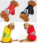 Pet Puppy Big Dog Adidog Clothes Warm Sweater Hoodie Coat Jacket Costume Apparel