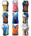 Men Dragon Ball Z Vegeta Goku Tank Top Sleeveless Sport Cosplay Jerseys Women