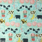 "Nursery Rhyme Childrens fabric  44"" wide 100 % cotton per 1/2 metre/fat quarter"