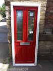Delivery is £39 New Red Composite Glazed Door & Upvc Frame  code A44