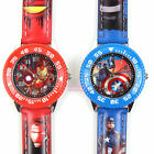 MARVEL AVENGERS IRONMAN CAPTAIN TURN DIAL PU BAND CHILD WATCH - 2 COLOR CHOOSE