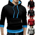 NEW Mens Stylish Slim Pullover Hooded Sport Coat Hoodies Tracksuits Tops Outwear