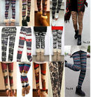 AZTEC FAIRISLE Nordic Mini Deer Reindeer Snowflake Leopard Knitted Wool leggings