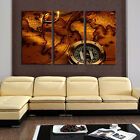 Unframed 3 Pcs Abstract Map Large HD Wall Art Picture Canvas Print Painting