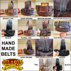 HILASON HEAVY DUTY HAND MADE BUFFALO HIDE LEATHER STICHED GUN HOLSTER BELT 30-60