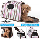 Airline Approved Designer Folding Zippered Sporty Cage Pet Dog Carrier bag