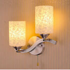 Modern Chrome White Glass Lampshade Indoor Wall Light Lamp Sconce Decor 9325U