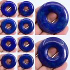 50mm  blue Lapis gemstone donut pendant bead