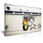 Banksy New Art Work in Bristol Canvas Wall Art Picture Print ~ 9 Sizes