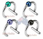 FAKE Captive Ring Ear Cuff NO piercing requ'd Ear Cartilage Nose Colour Ball