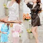 Women Sexy Lady Hot New Lace Silk Underwear Lingerie Sleepwear Robe