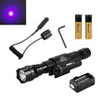 5000Lm XM-T6 LED Flashlight Torch Red Dot Laser Sight Scope Hunting 2*18650 Lamp