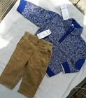 Pants Sweater Set Gymboree 2pc Corduroy Cotton Boy Size 6-12 or 12-18 month New