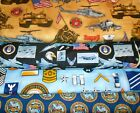 MILITARY #1  FABRICS Sold INDIVIDUALLY NOT AS A GROUP By the HALF YARD