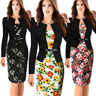 Women Sexy Bandage Bodycon Long Sleeve Evening Party Cocktail Pencil Slim Dress