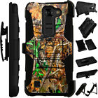 For LG / HTC Rugged Cover Holster Hybrid Case CAMO CAMOUFLAGE LEAVES LuxGuard