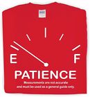 Patience Meter t-shirt funny slogan gift for dad, grandad, husband,  famousfx
