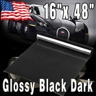 "12"" x 48"" Black Light Smoke Headlight Taillight Tint Vinyl Film Cover Sheet"