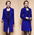 Womens Slim Winter Warm Trench Coat Long Wool Jacket Outwear tops plus size hot
