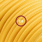 RM10 Yellow Solid Round Electric Cable covered by Rayon fabric