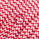 RZ09 Red Zig Zag Round Electric Cable covered by Rayon fabric