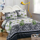 3D Bedding Pillowcase Quilt Duvet Cover Set Flat Sheet Single Double King Size