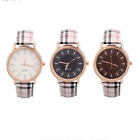 Fashion New Women Leather Band Stainless Steel Quartz Analog Wrist Watch