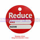 'REDUCE WAS NOW' ROUND PRICE DISPLAY CARD SWING TICKETS FOR RETAIL SALE DISPLAY
