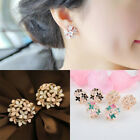 1 Pair Fashion Women Lady Elegant Crystal Rhinestone Ear Stud Earrings Beauty