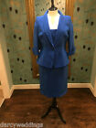 Carina 2 piece, Mother of the Bride outfit in Royal Blue. UK size 16.